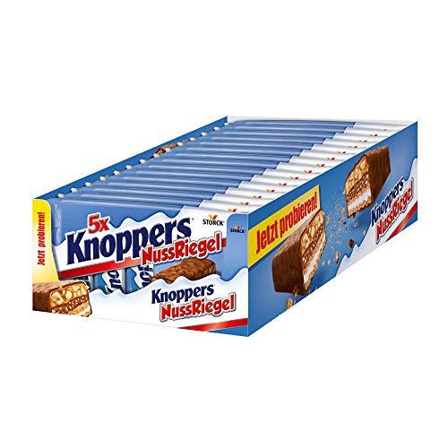 Knoppers NussRiegel - der erste Riegel auf Knoppers Art - 5er Packung (5 x 200g Packung)