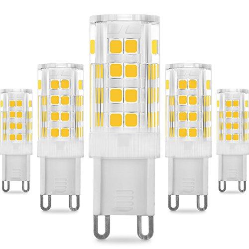 KINDEEP G9 LED   5W / 400LM  Ricambio por lámpara alogena da 40W (Blanco cálido)