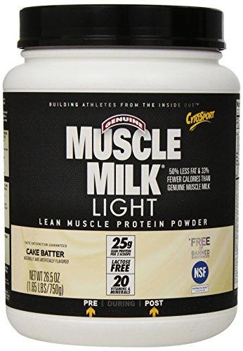 Cytosport, Inc, Originale Muscolo Latte Luce, Basso Calorie Massa Magra Proteine, Cake Batter, 0.7kg (750 g)