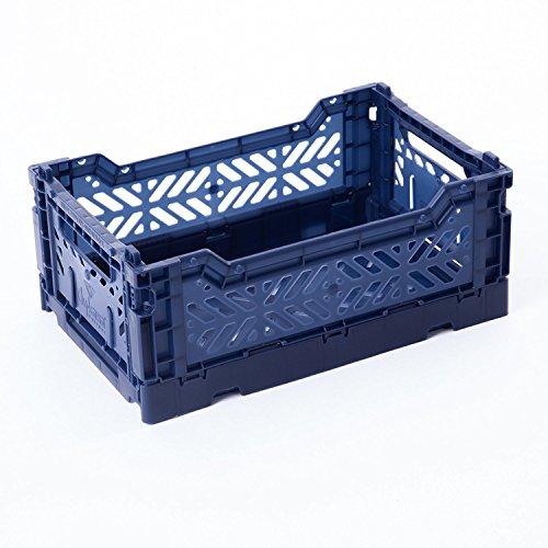 ay-kasa Schrankkorb Aufbewahrung Bin Container Tote, zusammenklappbar Korb Box Behälter: Aufbewahrung, Küche, Houseware Allzweckkorb Tote Box Mini-Box navy (Navy Papierkorb)