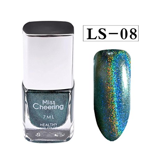 Nackt Glasur (Vogue Art Nail Polish Bling Bling Nagel Effekt Nail Powder Keine polnischen Folie Nails Kunst Glitter Silber (H))