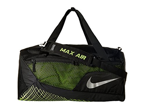 Nike Vapor Max Air Sporttasche, schwarz/Neongrün, 49.2 x 32.2 x 35.5 cm