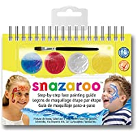 Snazaroo Unisex Face Paint A6 booklet with 2-Step Guide, Sea Wonders