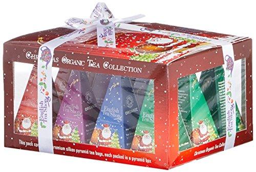 """English Tea Shop - Teegeschenk mit Schleife \""""Red Santa Christmas\"""", BIO, 12 Pyramiden-Beutel"""
