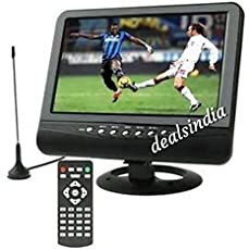 """9.5"""" TV Monitor with MP3,AVI Video Player with SD USB,AV in/Our,AUX Out Slots"""