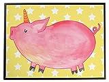 Mr. & Mrs. Panda Schreibtischunterlage Einhorn Schweinhorn - Einhorn, Einhörner, Unicorn, Party, Spaß, Schwein, Schweinhorn, Bauer, witzig. lustig, Spruch, geschenk, Pig, Piggy, funny, english, englisch Schreibtischunterlage, Schreibtisch, Unterlage