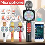 Wireless, Portable Handheld Singing Machine Condenser Microphone/Mic And Bluetooth Speaker Compatible with iPhone/iPad/iPod/