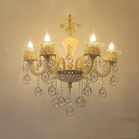 Luxus Kristall Kronleuchter Deckenleuchte Glas Schatten Kronleuchter Kerze Glühbirne Kristall Kronleuchter Beleuchtung Für Wohnzimmer Esszimmer Schlafzimmer E14 Lichtquelle (nicht Tragen Lichtquelle)