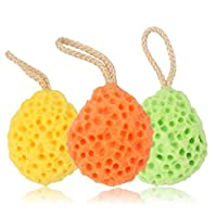 Baiyouli Bath Shower Sponge Shower Ball Exfoliate, Cleanse, Soothe Skin Pack of 3 Random Color