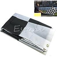 Rivalty (TM) Nuovo 90cm*150cm nero bianco Nascar bandiera a scacchi Motorsport Racing banner