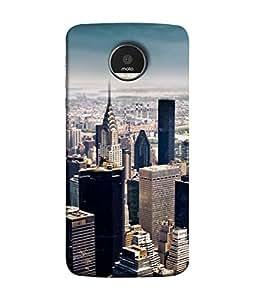 PrintVisa Designer Back Case Cover for Motorola Moto Z :: Motorola Moto Z Droid in USA (dream city lifestyle status level classy)