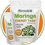 Moringa 500 Energy Tabs - 100% Vegane Qualität ohne Trennmitel, ohne Füllstoffe, ohne Kleber (2x250)