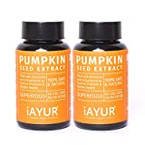 iAYUR Organic Pumpkin Seeds Extract (Pack of 2) Tested & Certified 100% Potent
