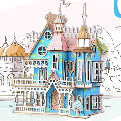 Kinder Spielzeug Holz 3D Laser-Schnitt-hölzernes Puzzlespiel-DIY Traumvilla Modell Gebäude-Geburtstags- und Weihnachtsgeschenke für Kinder und Erwachsene