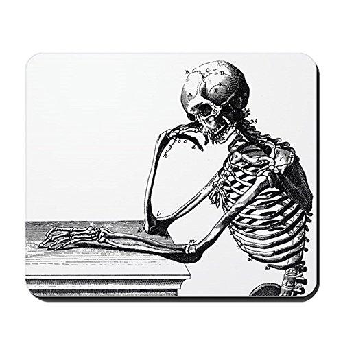 CafePress-Thinking Skelett-rutschfeste Gummi Mauspad, Gaming Maus Pad