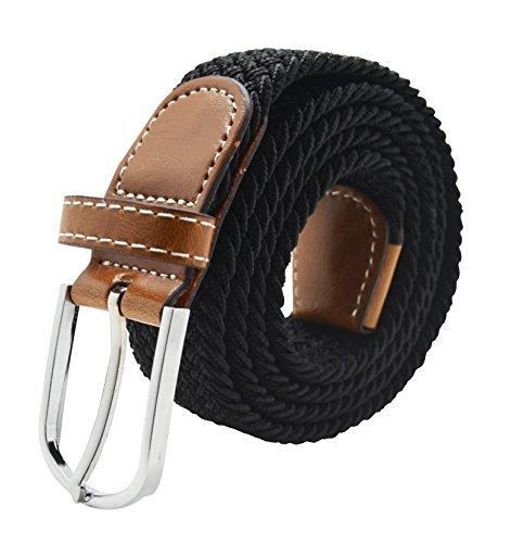 meta-u-unisex-intrecciato-gomma-elastica-string-belt-nero-taglia-unica