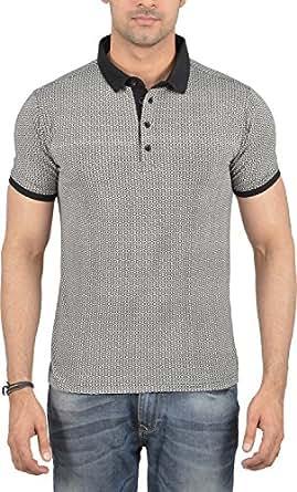 CalidaD Men's Regular Fit T-Shirt (CD-POLO-M010 _ XXL Black XXL)