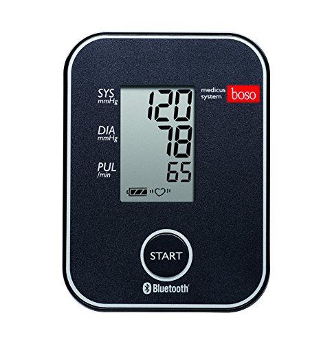 boso medicus system - Kabelloser Blutdruckmesser für die Messung am Oberarm mit Arrhythmie-Erkennung - Inkl. Universal-Zugbügelklettenmanschette (22-42cm)