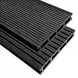 Terrasse Yard WPC Terrassendielen mit Zubehör, anthrazit Azek Composite Deck Boards Boden Fliesen mit Größe: 30m22,2m