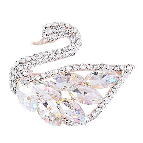 (Serired Brosche Zarte Hochwertigen Intarsien Kristall Glas italienischen Swan Festival Geschenk)