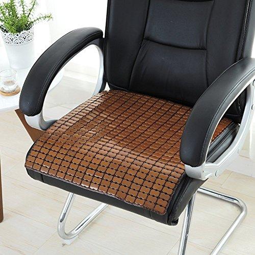 CCYYJJ Sommer Bambus Kissen, Sitzkissen Büro Stuhl Tisch Mat Mat Automatte Cooling Pad Sitzkissen-D 55X55 Cm (22 X 22 Zoll)