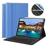 Wasan Custodia con Tastiera Bluetooth per Tablet iPad PRO 11' QWERTY Italiano, Smart Cover Supporta la Carica di Matita, Staccabile & Elegante & Auto Sleep/Wake, Blue