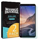 Ringke Invisible Defender Glass [2 Stück] Kompatibel mit Xiaomi Mi Max 3 Panzerglas Folie Ultimative klar Schirm HD Qualität Schutzfolie, 9H Härte Technologie für Mi Max 3 (2018)