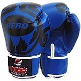 Guantes de Boxeo REBO entrenamiento/guantes de boxeo (azul) 'Yorker' -14 onza