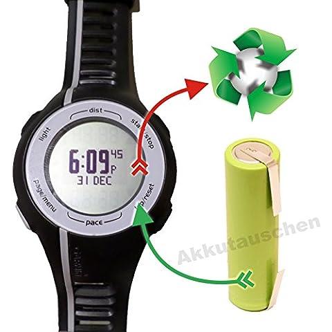 PREMIUM-Akkutausch Akkuwechsel für Laufuhr / GPS Garmin Forerunner 110 / 210 *Akkutauschen.de ist ausgezeichnet mit dem Qualitätssiegel Werkstatt N des Rates für Nachhaltige (Garmin 310 Xt)
