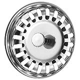 Cucina Filtro del Lavello Acciaio Inossidabile Tappo di Scarico del Lavello 79.3 MM (1)