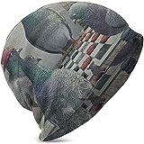 Photo de Unisexe Bonnet Casquettes Pigeons Jouer Aux Dames Drôle Pigeon Tricot Chapeau Crâne Cap Été Chaud Filles Garçons Chapeaux Noir par Giles John