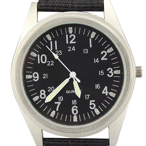 City Matt Silber Fall Quarz Schwarz Nylon Stoff Gurt Casual Fashion Armbanduhr