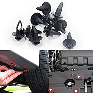 Muchkey Car Bumper Clip Trims Panel Fastener Rivets Auto Trim Clips 8mm 50Pcs