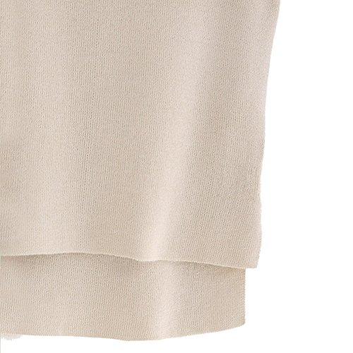 Débardeurs Femme, Yogogo Mode Femmes Vest Top sans manches chemise désinvolte Débardeurs T-shirt Beige