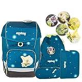 Ergobag Special Edition Galaxy Cubo Schulranzen-Set 5-tlg SternenwanderBär 9B9 petrol sterne