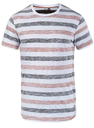 !Solid Tet Herren T-Shirt Kurzarm Shirt mit Streifen und Rundhalsausschnitt, Größe:L, Farbe:Orange Rust (6104)
