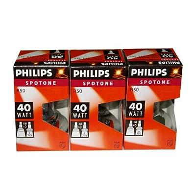 3 x Philips Reflektor Glühbirne Spotone R50 40W 40 Watt Glühlampe E14 Reflektorlampe von Philips bei Lampenhans.de