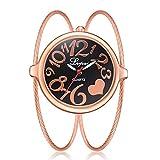 JiaMeng Damas Mujeres Pura Cara De Acero Inoxidable De Malla De Banda Reloj analógico de Pulsera de Cuarzo Casual para Mujer(Multicolor1)