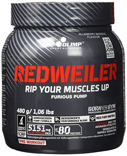 Olimp Redweiler | Pre Workout Booster | Muskelpumpe | L-Arginin | Beta-Alanin | Orange Geschmack | 480 g 3d Jack