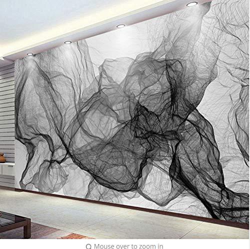 Fototapete Wand 3D Modern Hipster Schwarz Weiß Gestreifte Wellenförmige Linie Tv-Raum Hintergrund Kunst Dekoration Geeignet Für Wohnzimmer Schlafzimmer Dekoration Verwendung(W)300X(H)210Cm - Linien Hipster