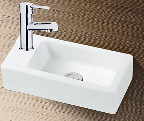 Grünblatt Waschbecken Hänge-Waschtisch mit Lotus Effekt Nano-Beschichtung