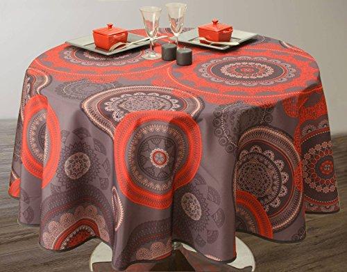 Nappe anti-taches Mandala Rouge - taille : Ronde diamètre 160 cm