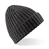 Beechfield Unisex Winter Beanie / Strickmütze (One Size) (Anthrazit)