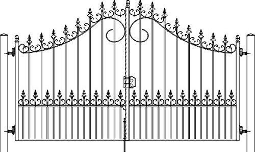 Doppelflügeltor Oxford 300 cm, Schmiedetor, Hoftor, Einfahrtstor, Gartenzaun
