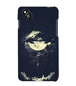 FUSON Amorous Exploits Love Moon 3D Hard Polycarbonate Designer Back Case Cover for Micromax Bolt D303