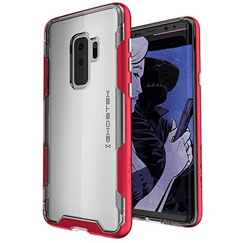 ghostek Umhang Transparent Military Grade Fall Kompatibel mit Galaxy S9Plus, Silber