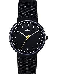 Braun Damen-Armbanduhr XS BN0031BKBKMHL Analog Edelstahl
