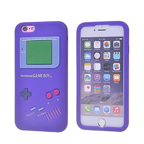 COOLKE Mode 3D Style Cartoon Soft Rubber de gel de silicone coque Housse étui Case Cover Pour Apple iPhone 6 6S (4.7 inches) - Yellow Pourpre