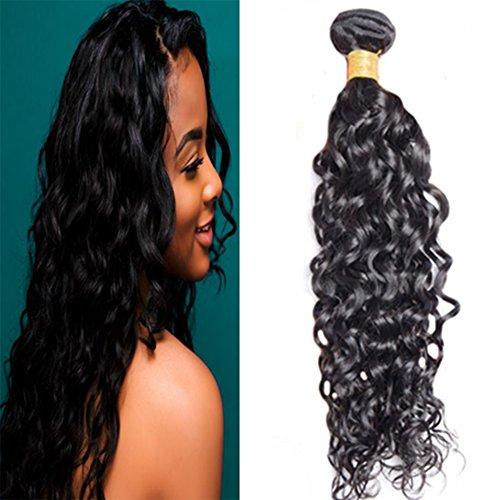 Laavoo brazilian hair wave 1 bundles 24pollice/60cm onda naturale/natural wave capelli veri remy umani ricci lunghissimi 100 grammi