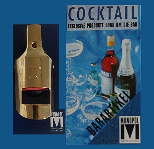 Monopol Sektflaschenverschluß Sektflaschenverschließer goldfarben hochglänzend